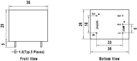 5 va 绝缘电阻:500mΩ @ 500 vdc    介质强度:3000vac 2ma 1min 50hz